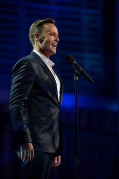 "Classical crossover singer Branden James stole America's hearts when he appeared on ""America's Got Talent"" earlier this year. (Photo property of NBC's Virginia Sherwood)"