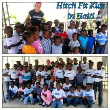 Recently, Diana traveled to Haiti to check on the students at their school. (Photo courtesy of the Lacertes.)
