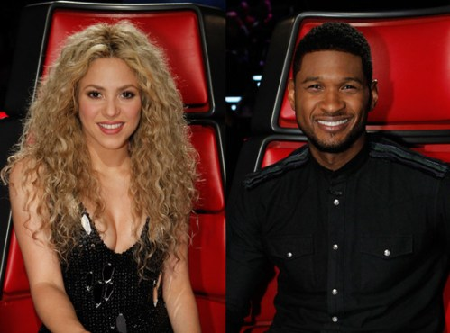 Shakira and Usher The Voice