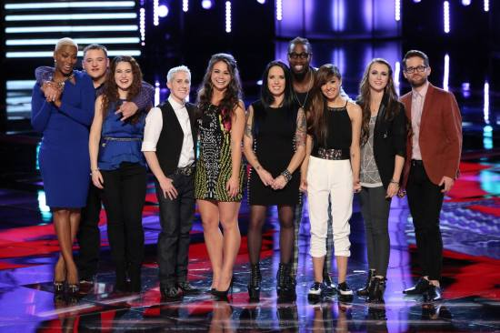 """""""The Voice: Season Six"""" Top 10 tackled the second week of Live Rounds. (Photo property of NBC)"""