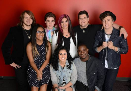"""The """"American Idol XIII"""" Top Eight revisited their audition songs and performed duets during tonight's show. (Photo property of FOX)"""