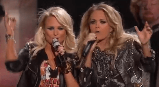 "Miranda Lambert & Carrie Underwood teamed up to deliver an outstanding duet: ""Somethin' Bad"" (Photo property of ABC & Billboard)"