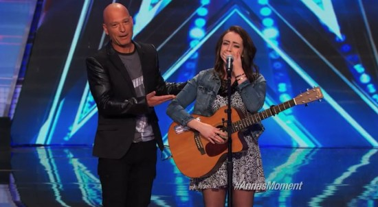 Anna Clendening and Howie Mandel AGT