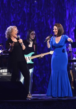 Longtime friends and music trailblazers Carole King and Gloria Estefan might honor each other if they get honored by the Kennedy Center. (Photo property of Getty Images North America's Ethan Miller)
