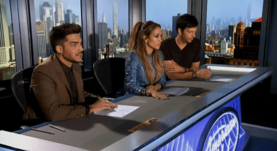 Adam Lambert Jennifer Lopez Harry Connick Jr. American Idol
