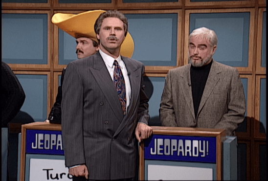 Alex Trebek and Sean Connery SNL Celebrity Jeopardy
