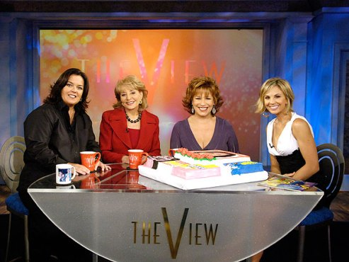 Rosie O'Donnell and the View ladies