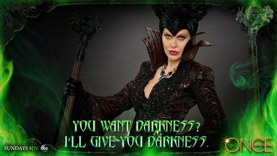 Kristen Bauer van Straten strikes a pose as Maleficent