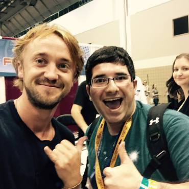 Selfie with Tom Felton at Planet Comicon