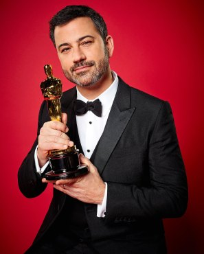 Jimmy Kimmel hosts the Oscars