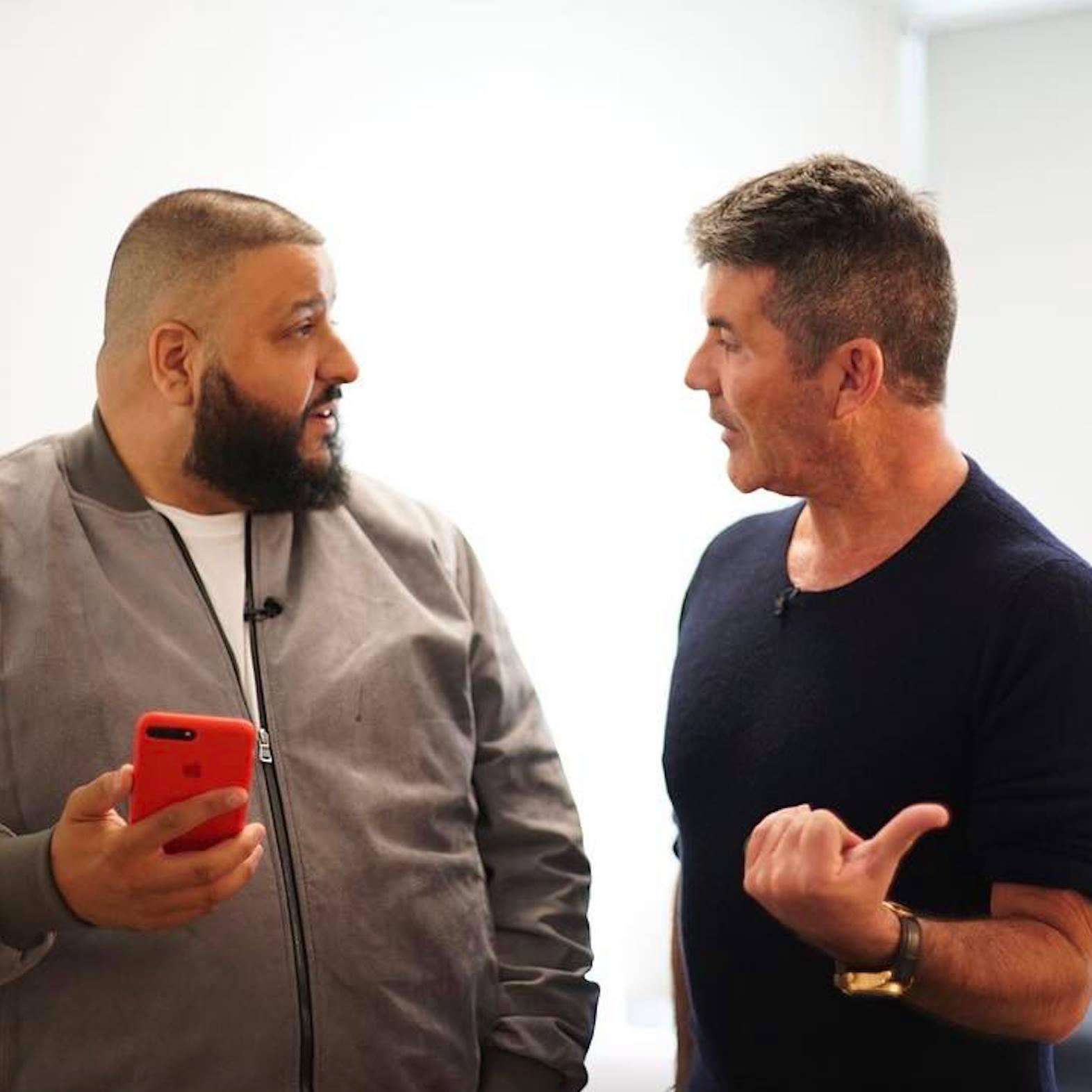 Dj khaled and simon cowell meet on agt jakes take dj khaled meets simon cowell m4hsunfo