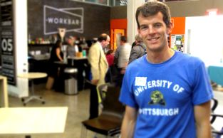 """Eric Tracey is an MBA student who came to the Mass Innovation Night looking for potential career opportunities. """"It's great to have the chance to network with some up and coming innovative companies."""" says Eric."""