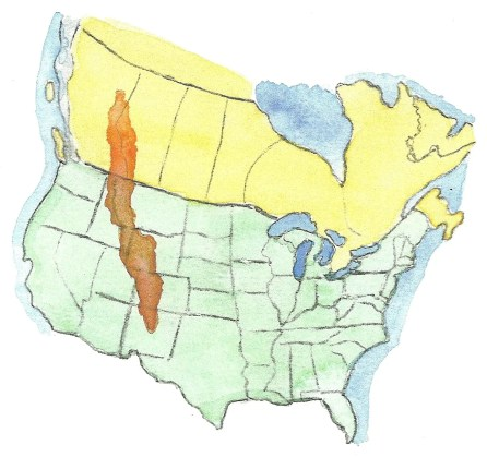 rocky mountains map, rocky mountain nature facts