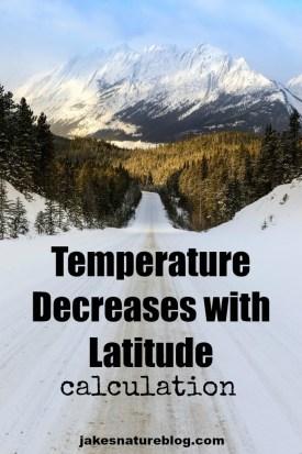temperature decreases with latitude