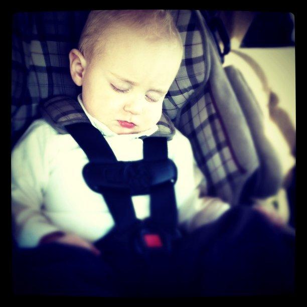 Sleepy rush on the way to family pics