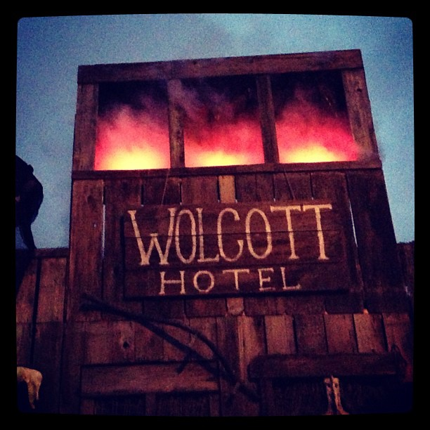 At the Wolcott Hotel.
