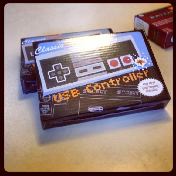 Just got this great Christmas gift from @spurzack. Stoked! Spent the afternoon playing Super Mario 3 with Melissa.