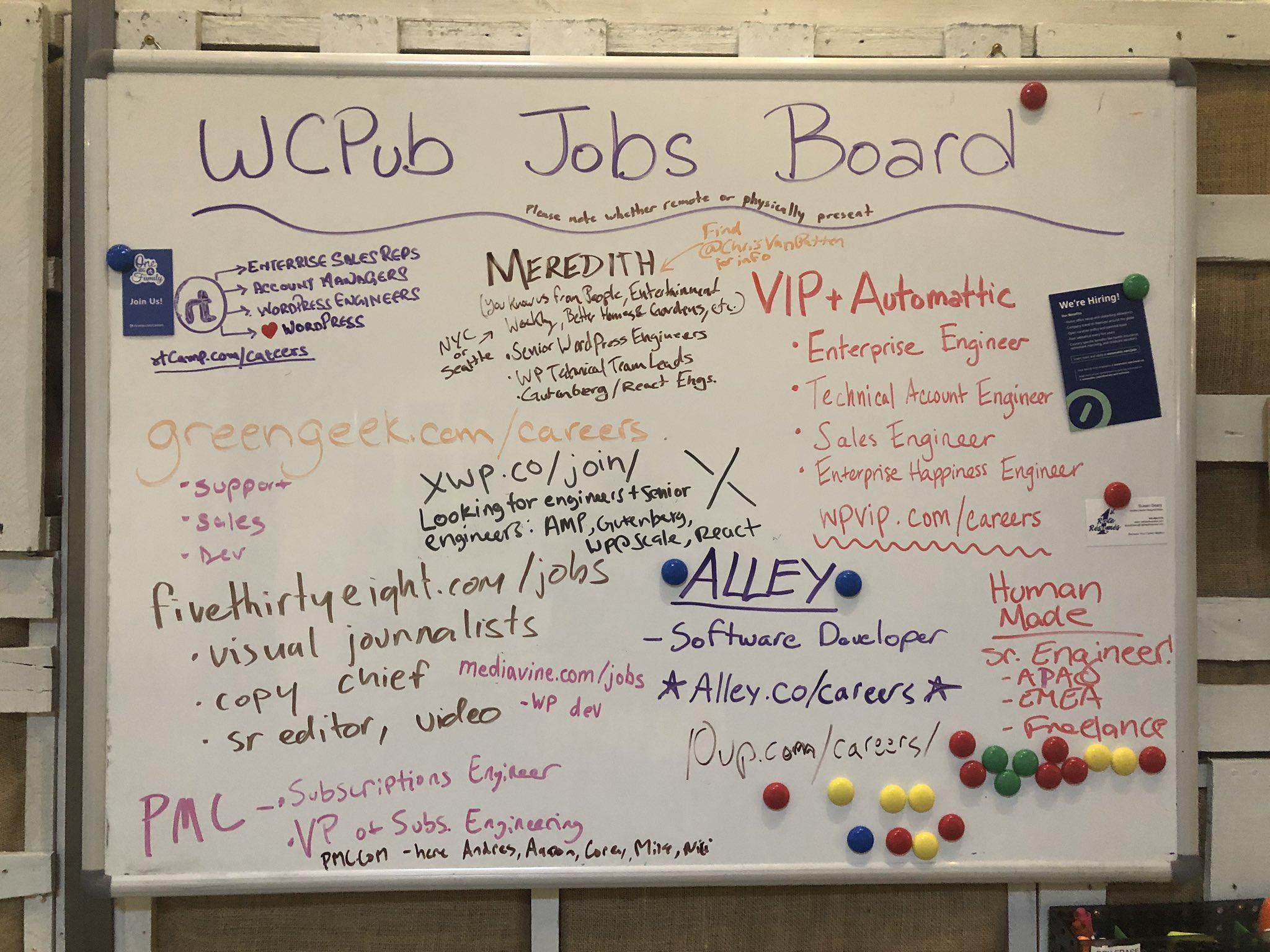 RT @aaronjorbin: Tons of jobs…