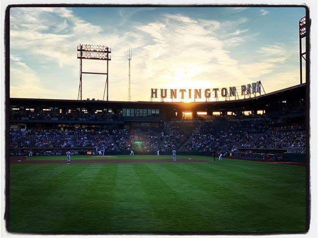 Beautiful night for a baseball…