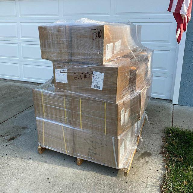 A few baseballs got delivered...…
