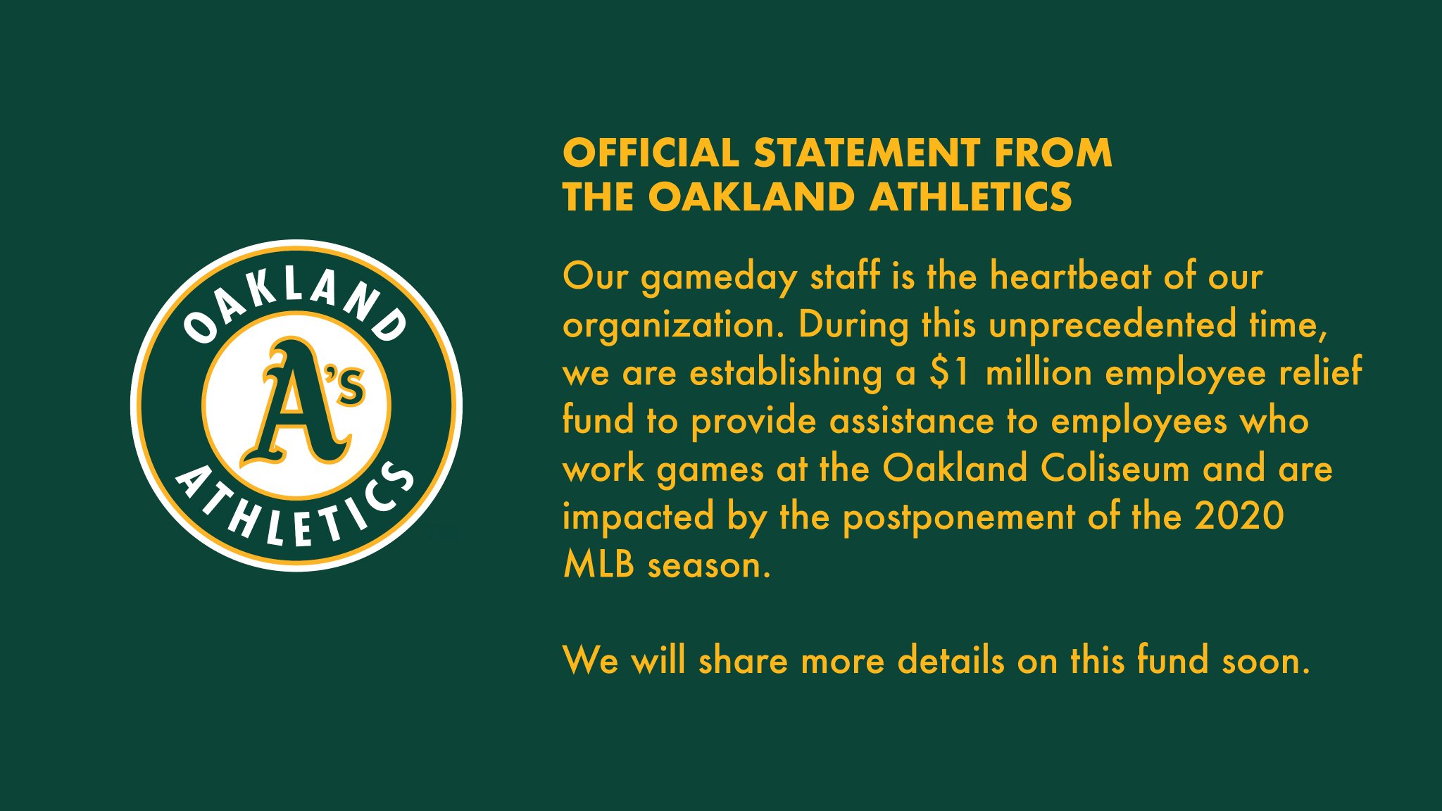 RT @Athletics: The heartbeat of…