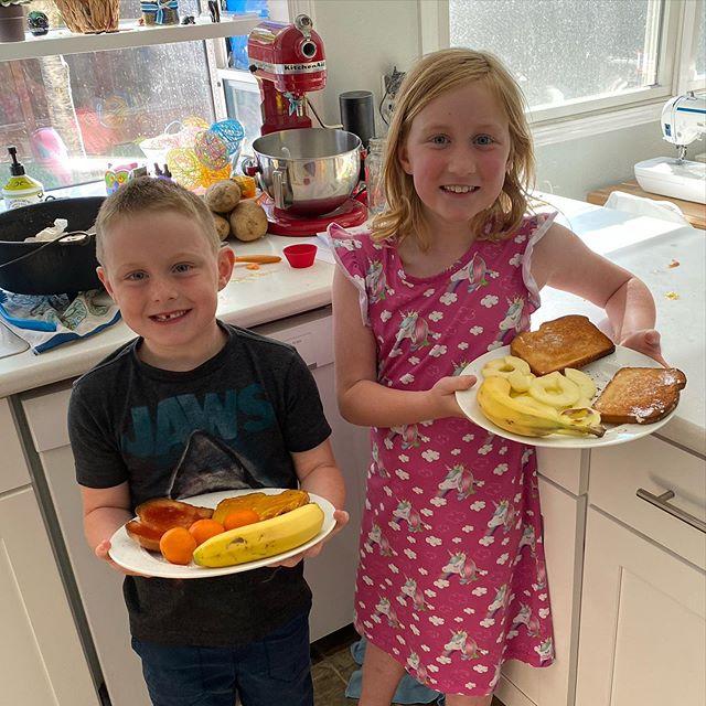 Kiddos made us breakfast.