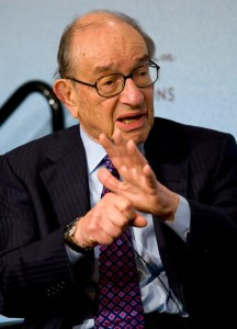 Alan Greenspan, president of Greenspan Associates LLC and former Federal Reserve chairman, speaks at the Council on Foreign Relation in New York, U.S., on Wednesday, Sept. 15, 2010. Photographer: Jin Lee/Bloomberg