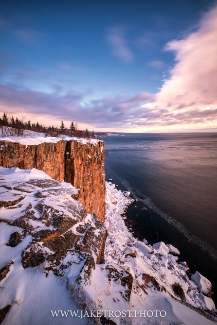 Sunrise at Palisade Head, Silver Bay, MN
