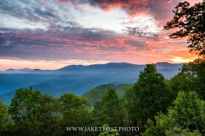 Sunrise from the Blue Ridge Parkway, NC