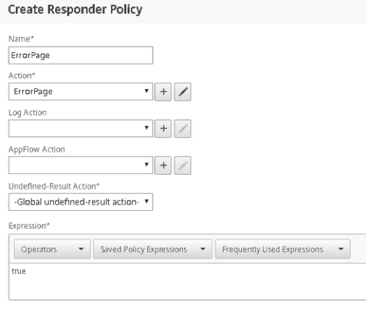 Quick Post! - Using NetScaler responder policies/actions and