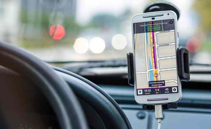 mapa i nawigacja w telefonie