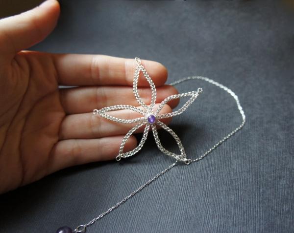 Bobbin Lace Necklace by JaKiGu