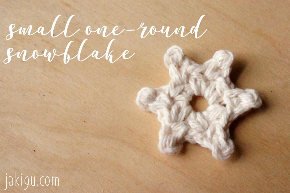 Free Crochet Patterns One Round Crochet Snowflakes Jakigu