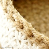Jute and Cotton Basket Set | jakigu.com crochet pattern