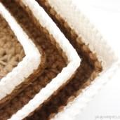 Square Jute and Cotton Stacking Baskets | jakigu.com crochet pattern