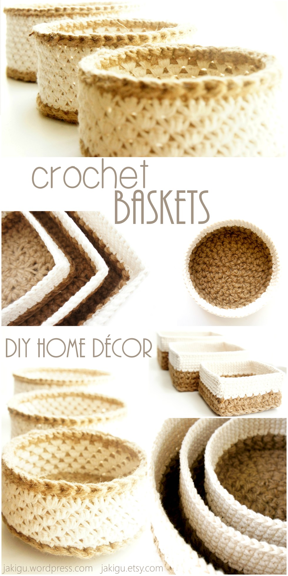 Crochet Baskets by JaKiGu, Pattern Bundle
