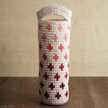 Wine Bottle Gift, crochet pattern by jakigu.com