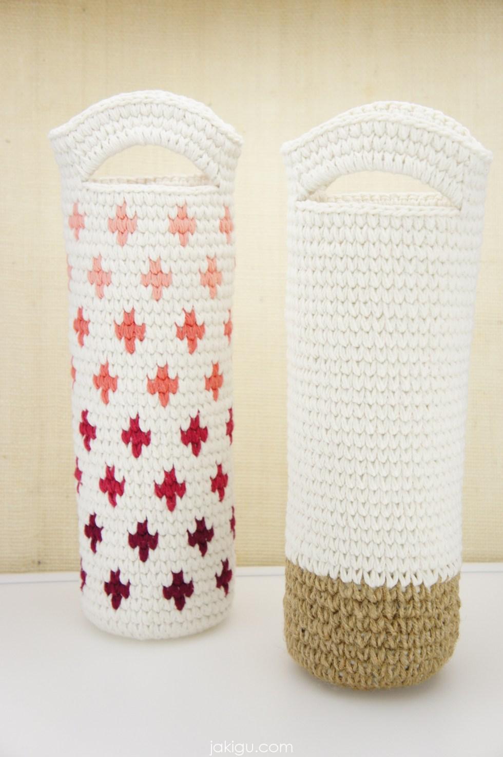 Crochet Wine Bottle Koozies / Cozies by jakigu.com