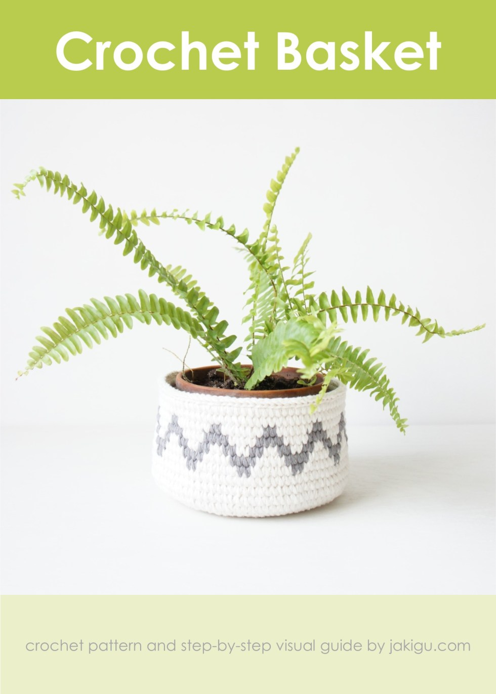 Crochet basket pattern by jakigu.com