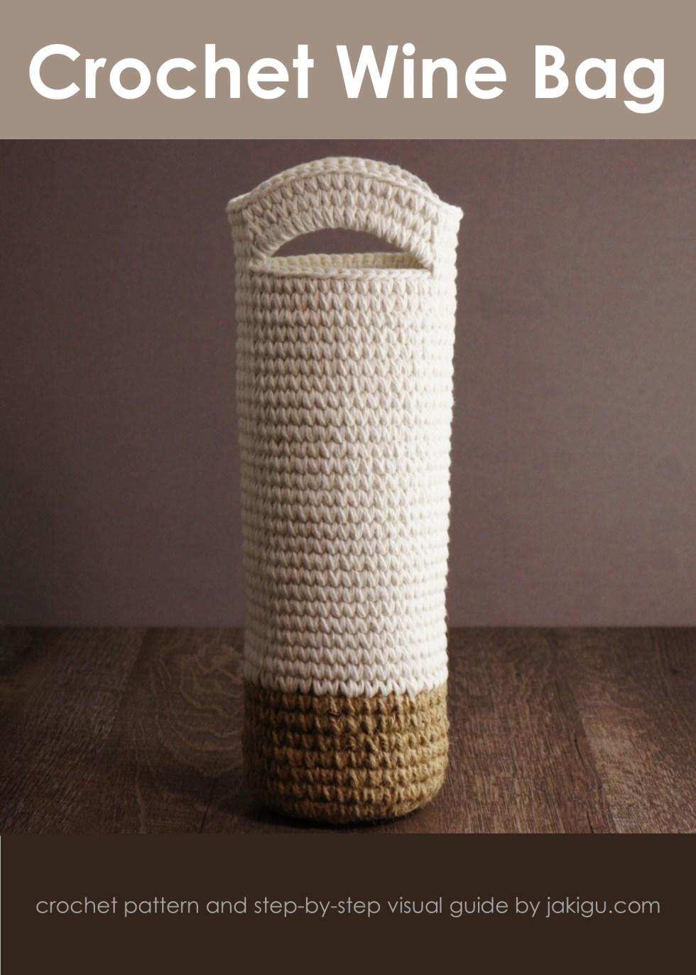 Crochet wine bag pattern by jakigu.com
