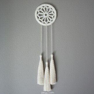 jakigu.com | cotton dream catcher wall hanging | macrachet
