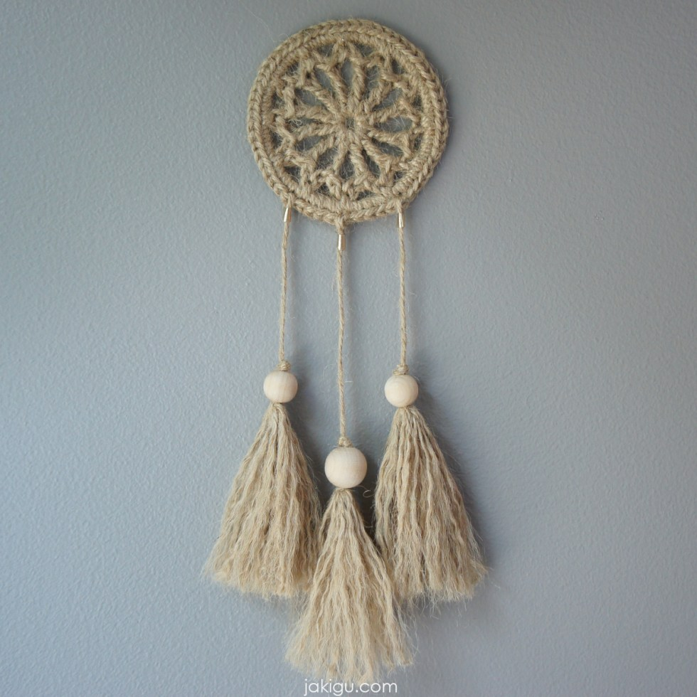 jakigu.com | crochet dream catcher pattern