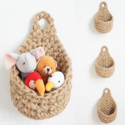 jakigu.com   Raindrop Hanging Basket   crochet pattern