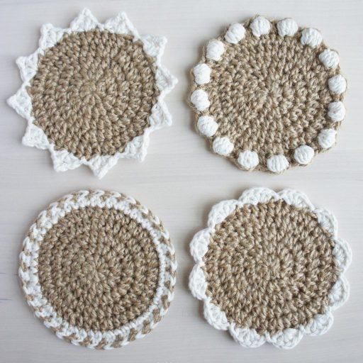 jakigu.com | Jute Coaster Set Crochet Pattern