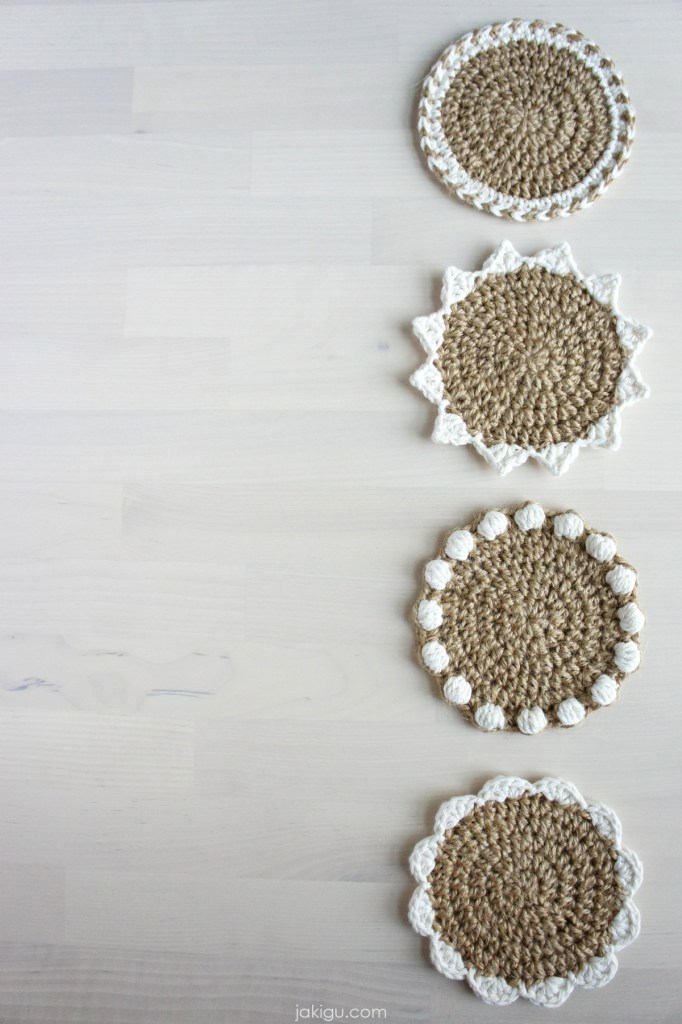 jakigu.com | Jute Coaster Set Crochet Pattern