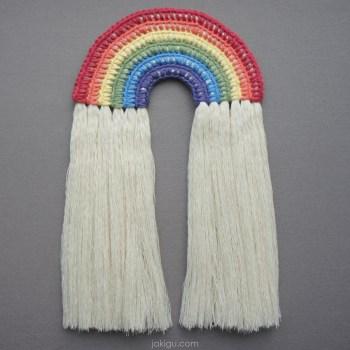 jakigu.com   rainbow wall hanging crochet pattern