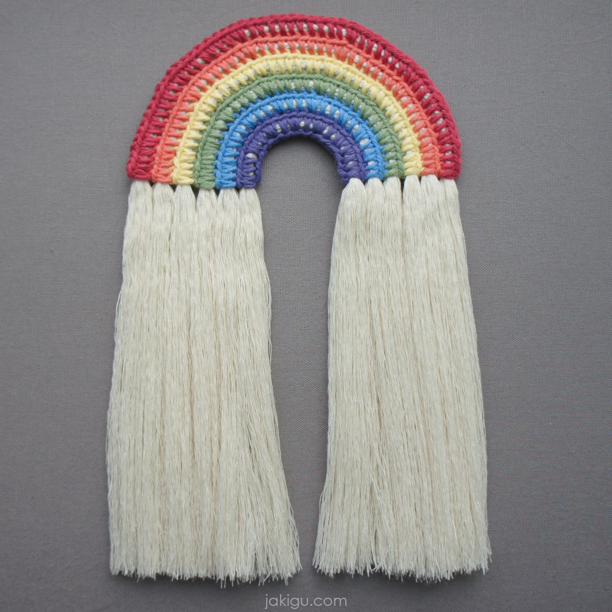 jakigu.com | rainbow wall hanging crochet pattern