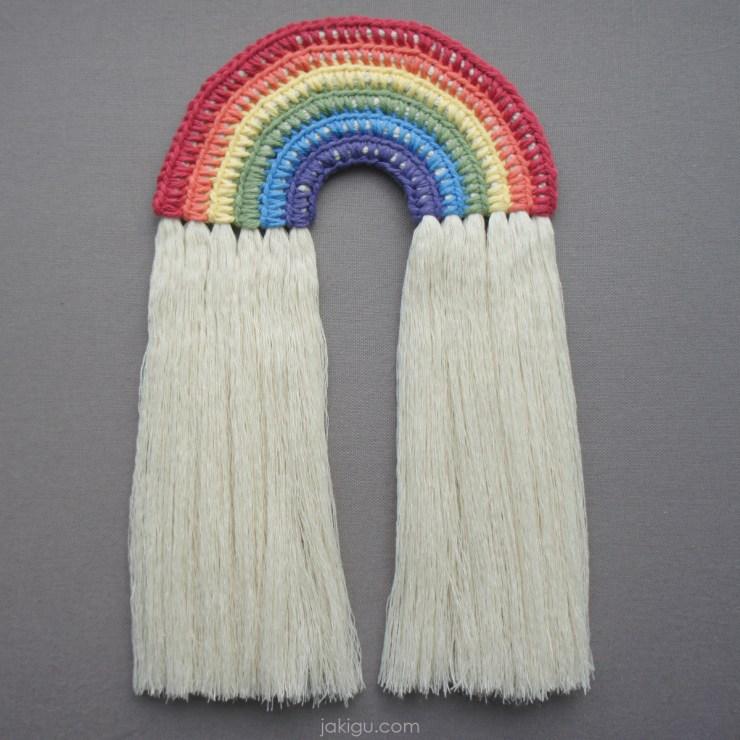 jakigu.com | rainbow wall hanging crochet pattern
