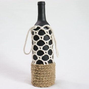 Bottle Carrier Crochet Pattern EAU by jakigu.com