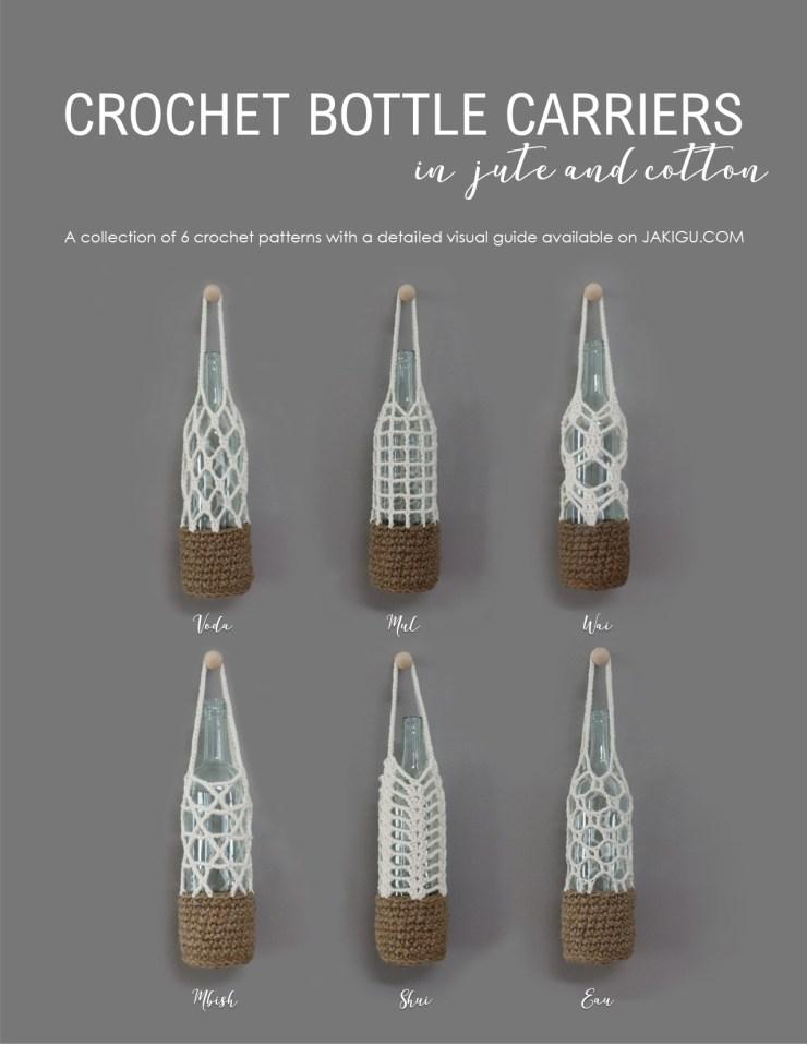 Bottle Carriers Crochet Pattern Collection | jakigu.com